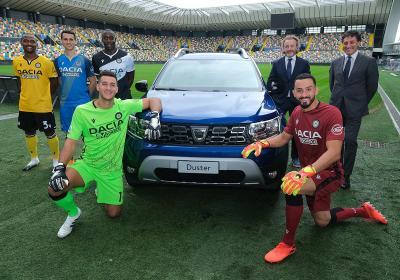 Dacia e Udinese, altri 3 anni di partnership