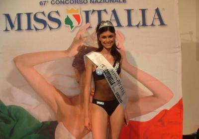 Linda Morselli al concorso Miss Italia