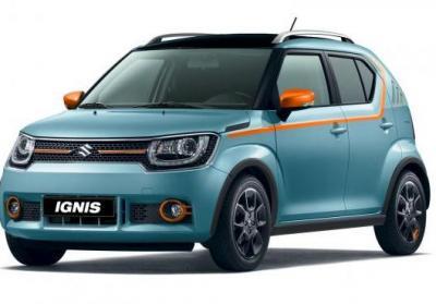 Suzuki Ignis iUnique tre quarti anteriore azzurro maldive