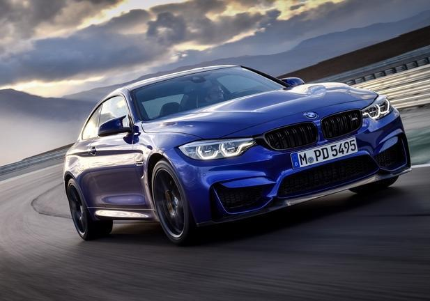 BMW M4 CS tre quarti anteriore