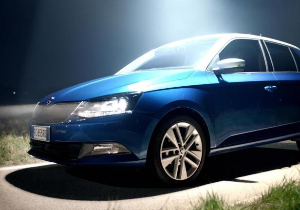 Skoda Fabia Twin Color blu