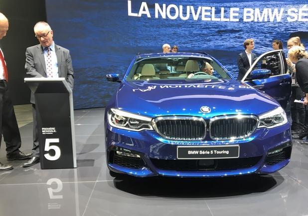 Anteprima BMW Serie 5 Touring frontale
