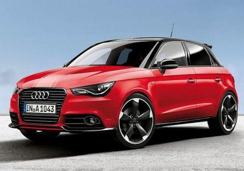 Audi A1 Amplified Red tre quarti anteriore lato sinistro