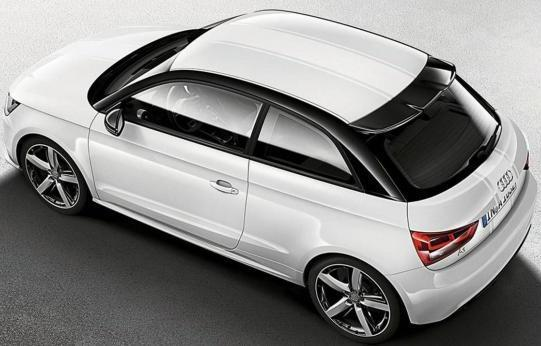 Audi A1 Amplified White vista dall'alto
