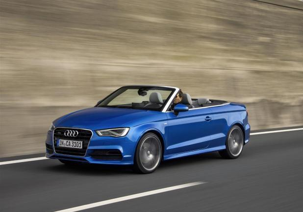 Audi A3 Cabriolet Quattro in movimento