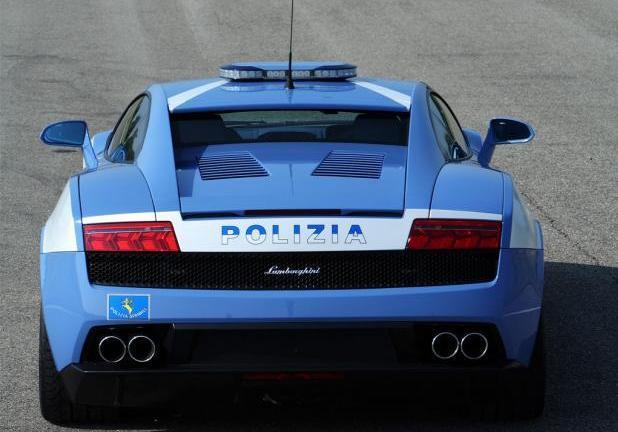 Foto Auto Della Polizia Lamborghini Gallardo Posteriore Patentati