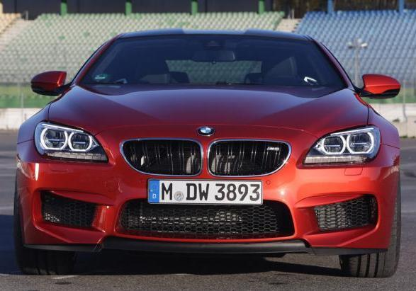 BMW M6 con Competition Package anteriore