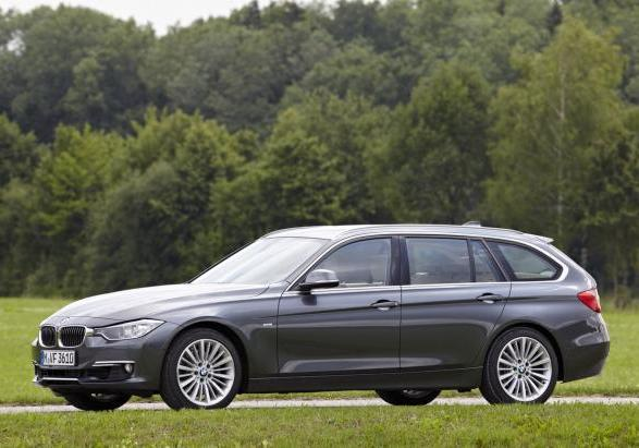 BMW Serie 3 Touring grigia laterale