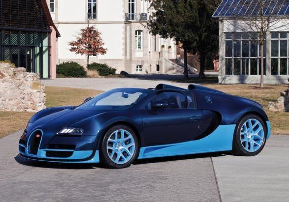 Bugatti Veyron Grand Vitesse Blue Carbon 2