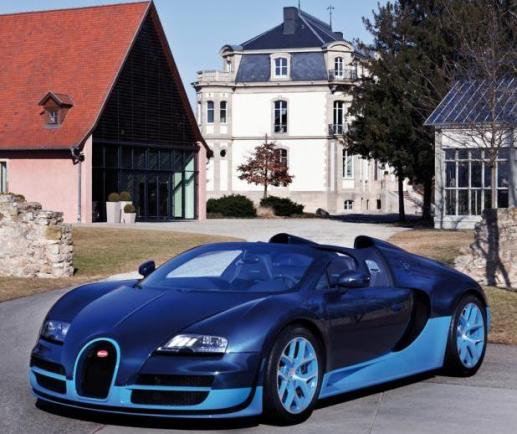 Bugatti Veyron Grand Vitesse Blue Carbon
