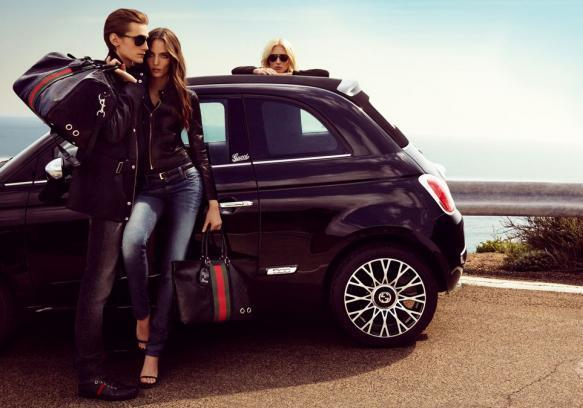 Fiat 500C by Gucci nera