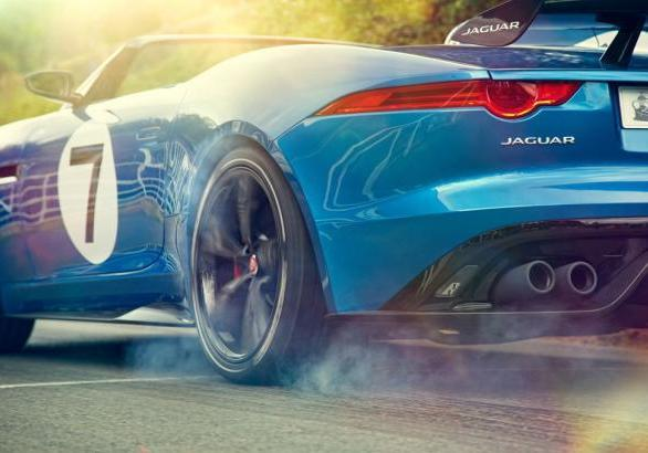 Jaguar Project 7 in accelerazione