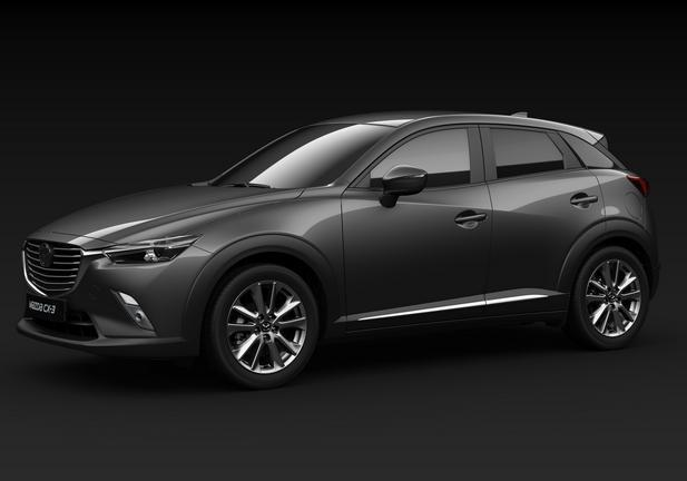 Mazda Cx-3 Luxury Edition tre quarti grigia