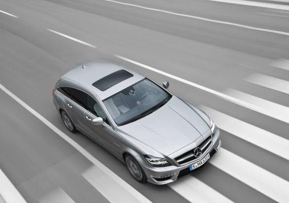 Mercedes CLS Shooting Brake 63 AMG te quarti anteriore