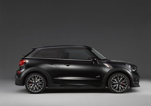Mini Paceman Frozen Black metallic profilo