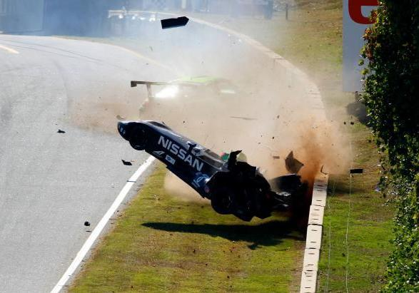 Nissan DeltaWing incidente ribaltamento