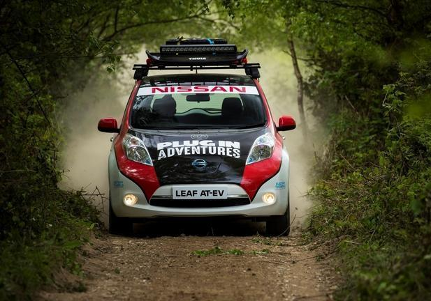 Nissan Leaf Mongol Rally frontale