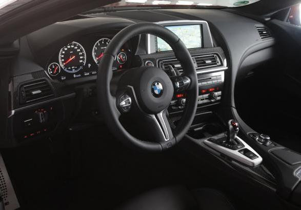 Nuova BMW M5 con Competition Package interni