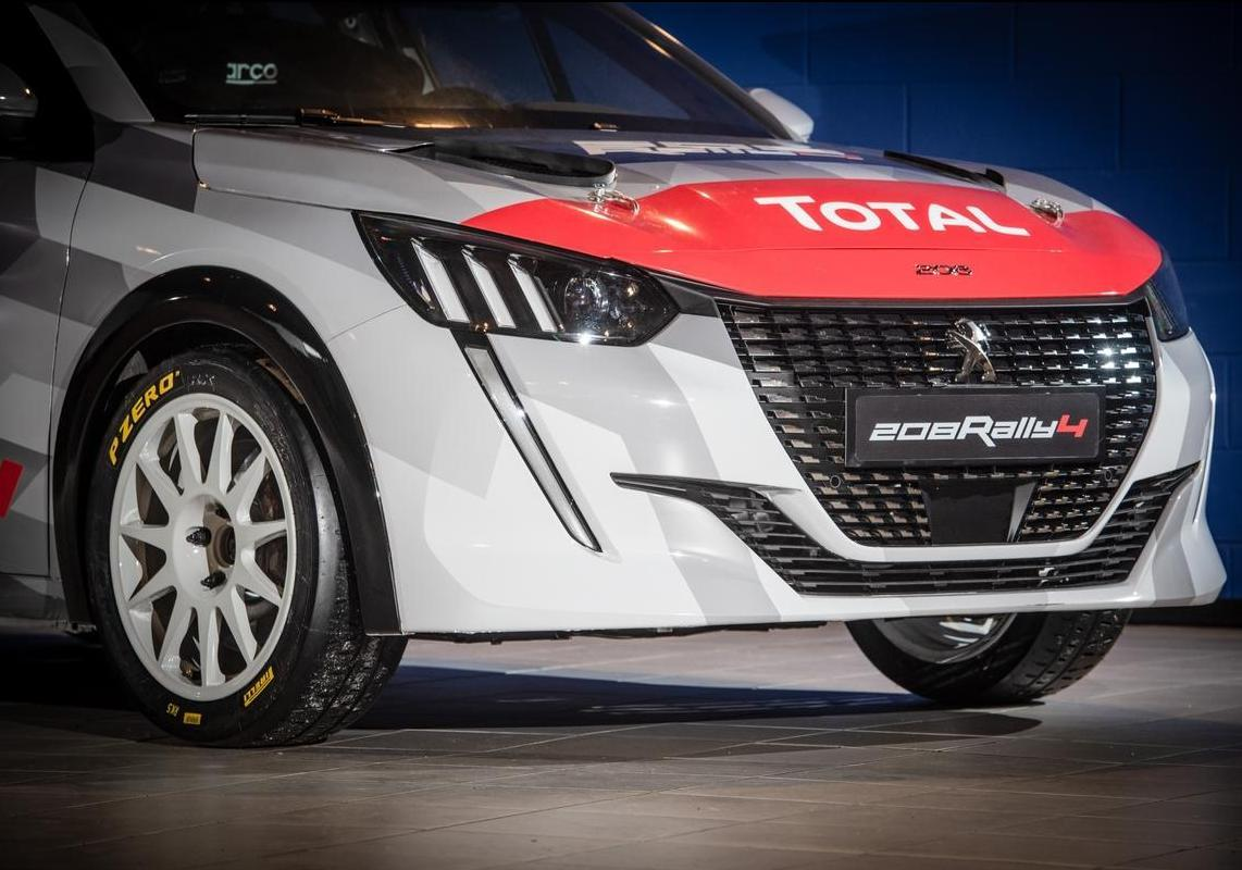 Nuova Peugeot 208 Rally 4 frontale