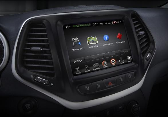 Nuovo Jeep Cherokee schermo touch screen