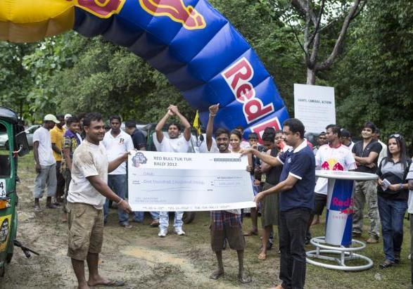 Red Bull Tuk Tuk Rally premio primi classificati