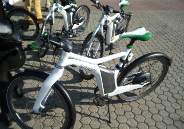 Smart ebike sul cavalletto