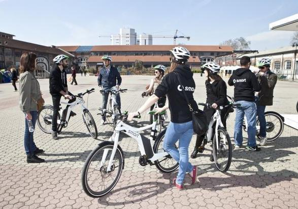 Smart ebike test drive a Milano