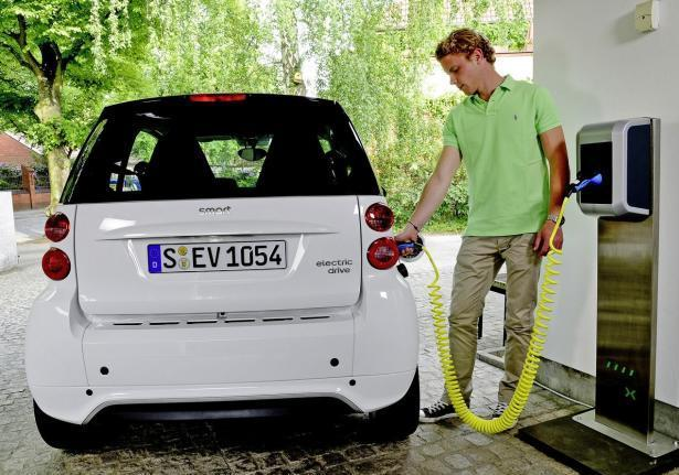 Smart Electric Drive ricarica rapida vista posteriore