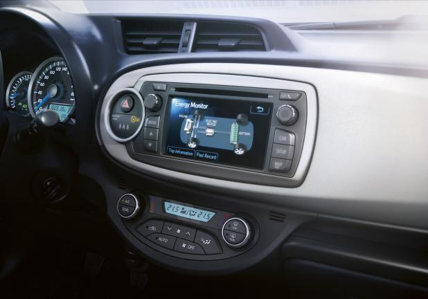 Toyota Yaris Hybrid display