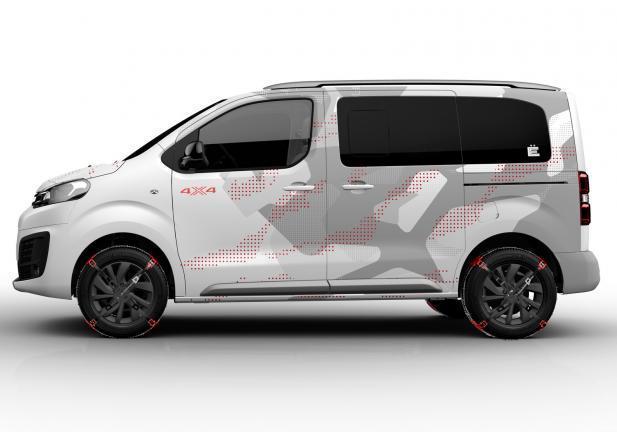 Citroën Spacetourer E 4X4 Concept profilo laterale