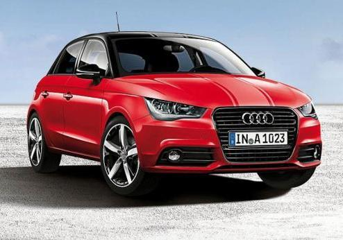 Audi A1 Amplified Red tre quarti anteriore lato destro