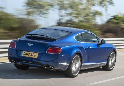 Bentley Continental GT Speed tre quarti posteriore lato destro