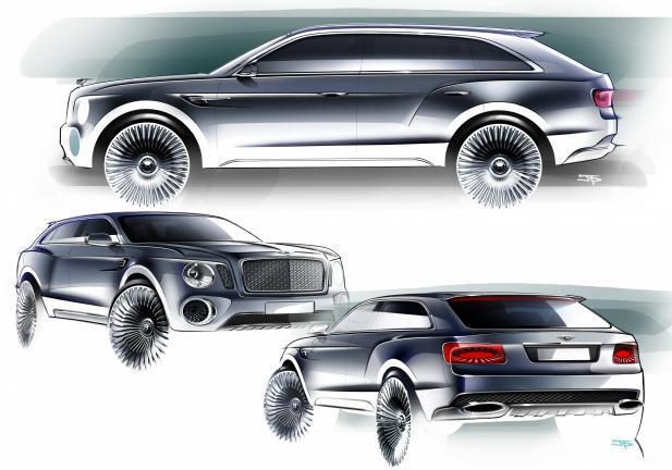 Bentley EXP 9 F Concept design