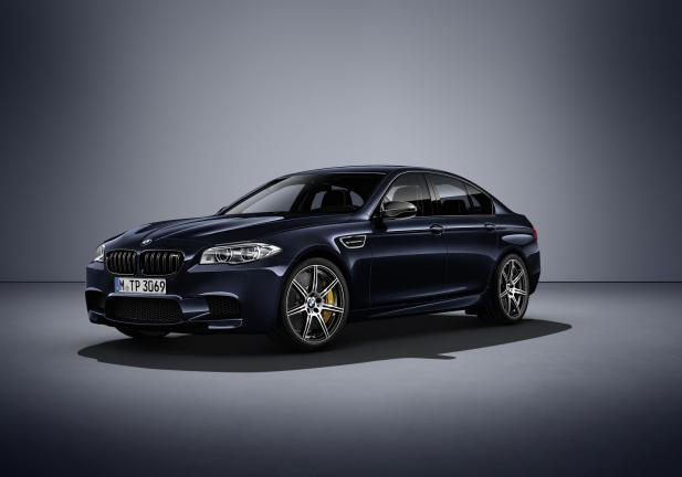 BMW M5 Competition Edition blu