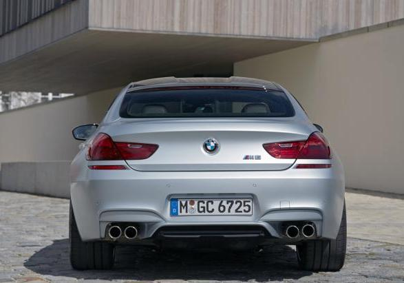BMW M6 Gran Coupé con Competition Package posteriore
