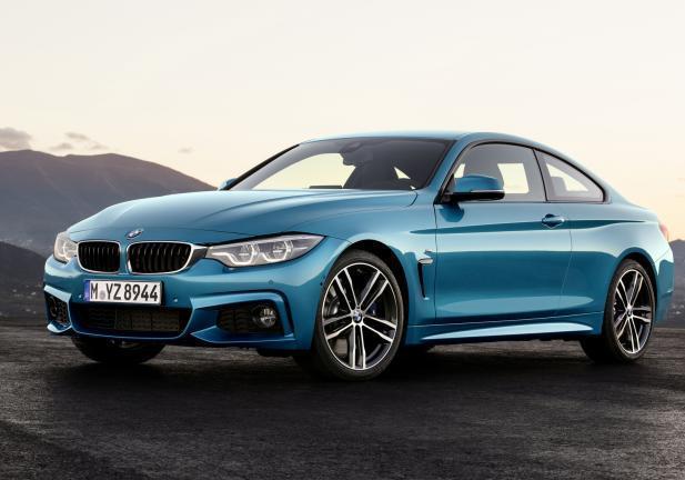 BMW Serie 4 2017 tre quarti anteriore