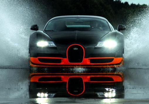 Bugatti Veyron Supersport anteriore