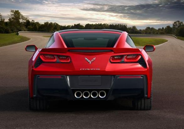 Chevrolet Corvette Stingray posteriore