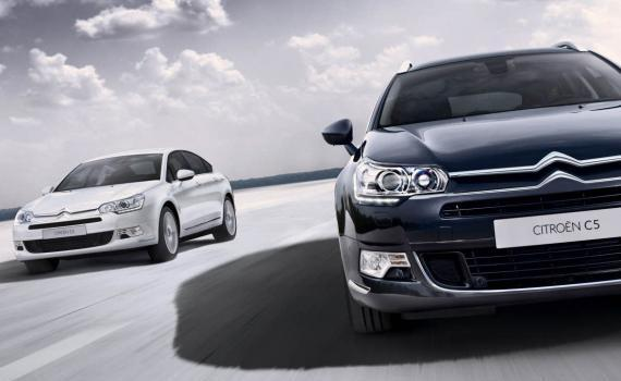 Citroen C5 berlina e Tourer restyling anteriore