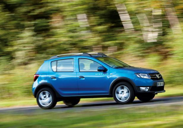 Dacia Sandero turbo in movimento