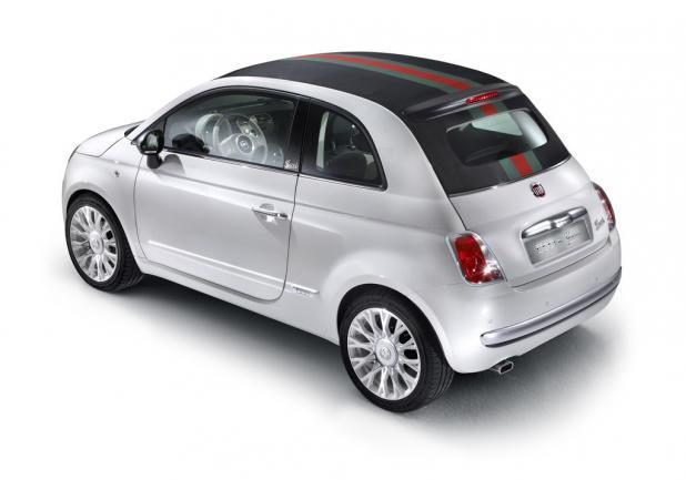 Fiat 500C by Gucci bianca