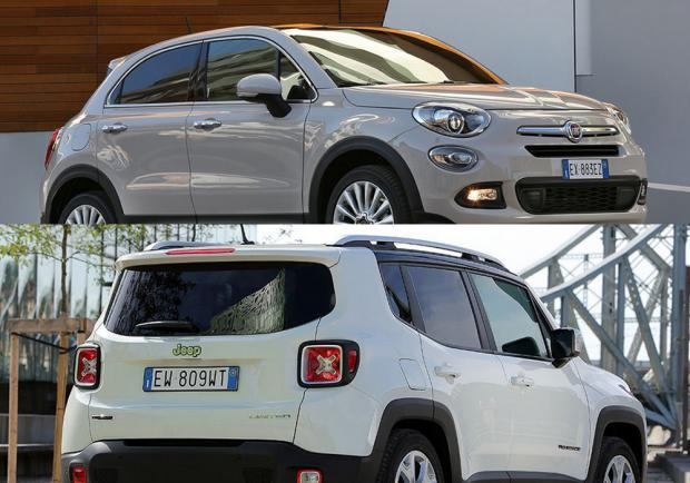 Fiat 500X e Jeep Renegade