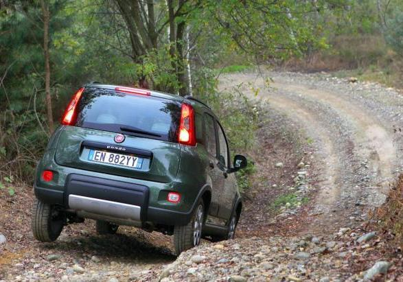 Fiat Panda 4x4 in off road posteriore