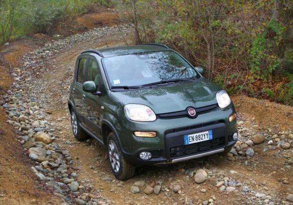 Fiat Panda 4x4 in off road
