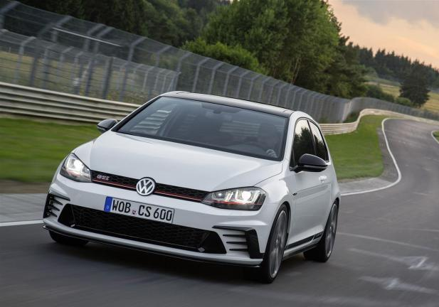 Golf GTI Clubsport frontale in movimento