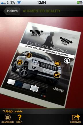 Jeep Grand Cherokee S Limited progetto multimediale su iPhone