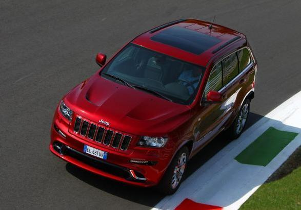 Jeep Grand Cherokee SRT visto dall'alto