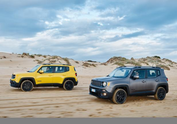 Jeep Renegade Night Eagle grigia e gialla