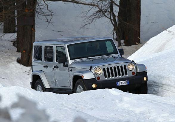 Jeep Wrangler Unlimited my 2013 tre quarti anteriore lato destro