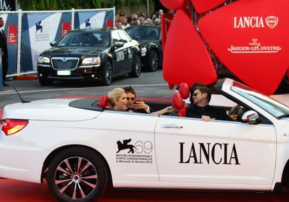 "Lancia Flavia ""Red Carpet"" con Kate Hudson e Matt Bellamy"